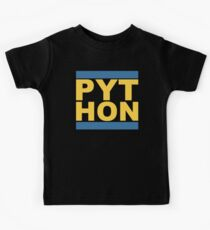 PYT HON - Cool Blue & Yellow Python Programmer Design Kids Clothes