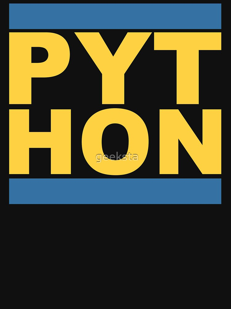 PYT HON Cool Blue & Yellow Design for Python Programmers by geeksta