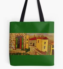 Karl Paints Town in Provence France Tote Bag