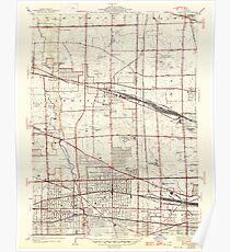USGS TOPO Map Illinois IL Elmhurst 307506 1928 24000 Poster