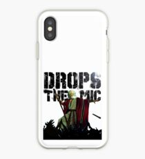 Drops The Mic (Moses) iPhone Case