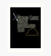 Richard Castle Private Investigation Team Art Print