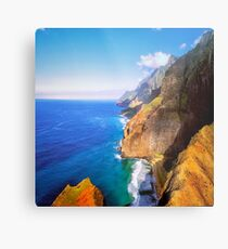 North Na Pali Coast Metal Print