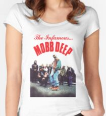 Mobb Deep The Infamous cover art Women's Fitted Scoop T-Shirt