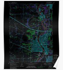 USGS TOPO Map Illinois IL Elgin 307490 1962 24000 Inverted Poster