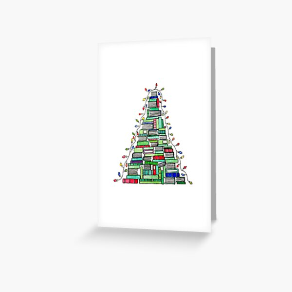 Arbre du livre de Noël: 2017 Carte de vœux