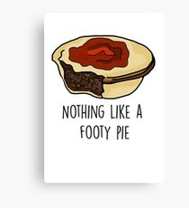 Nothing Like a Footy Pie Canvas Print