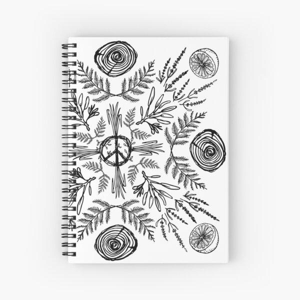Plant Mandala Spiral Notebook