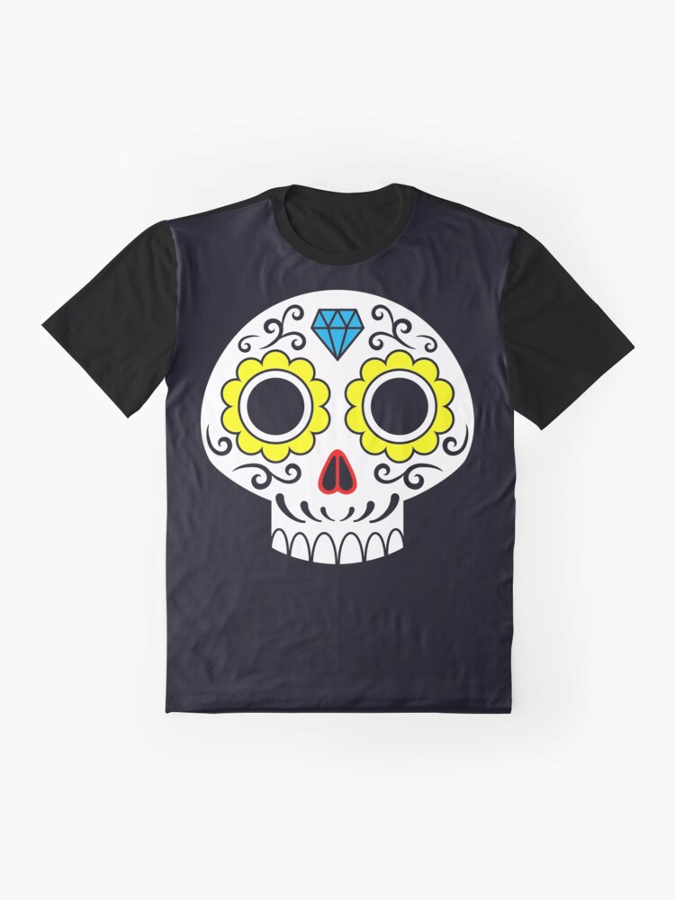 Alternate view of Sugar skull for a cake Graphic T-Shirt