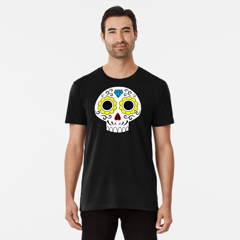 Sugar skull for a cake Premium T-Shirt