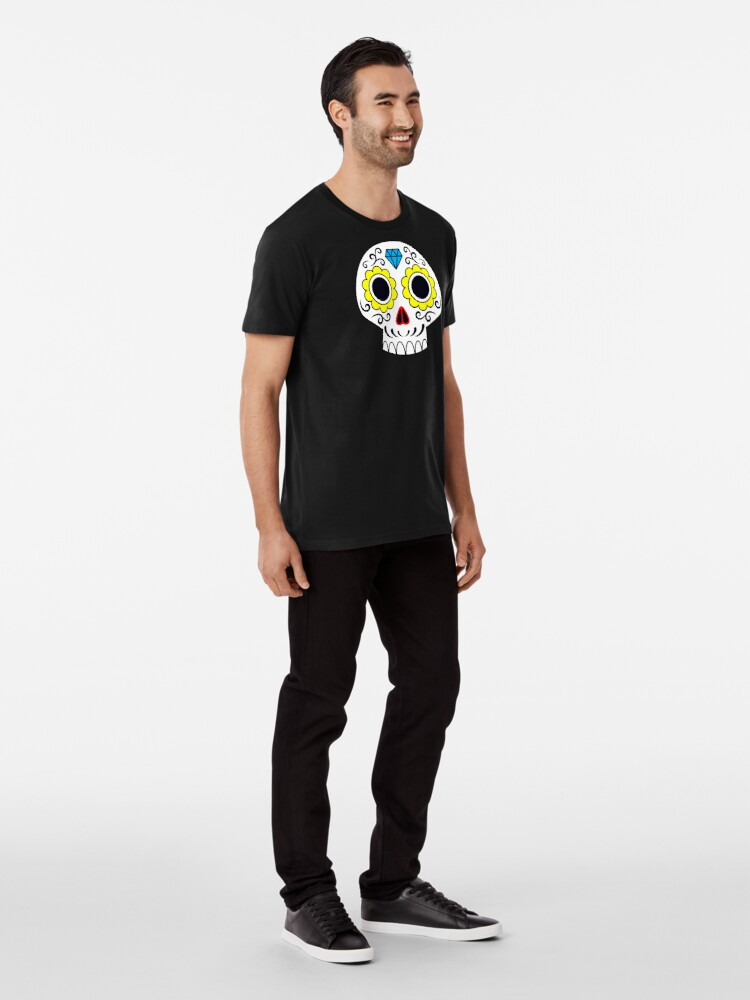 Alternate view of Sugar skull for a cake Premium T-Shirt