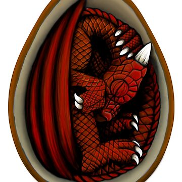 Dragon Egg - Red and Orange by Art-by-Aelia