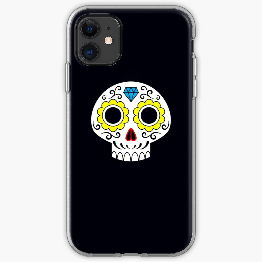 Sugar skull for a cake iPhone Case & Cover