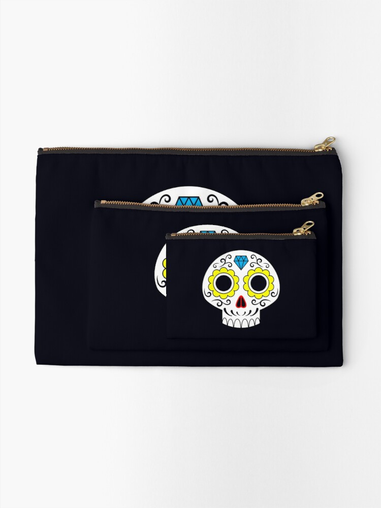 Alternate view of Sugar skull for a cake Zipper Pouch