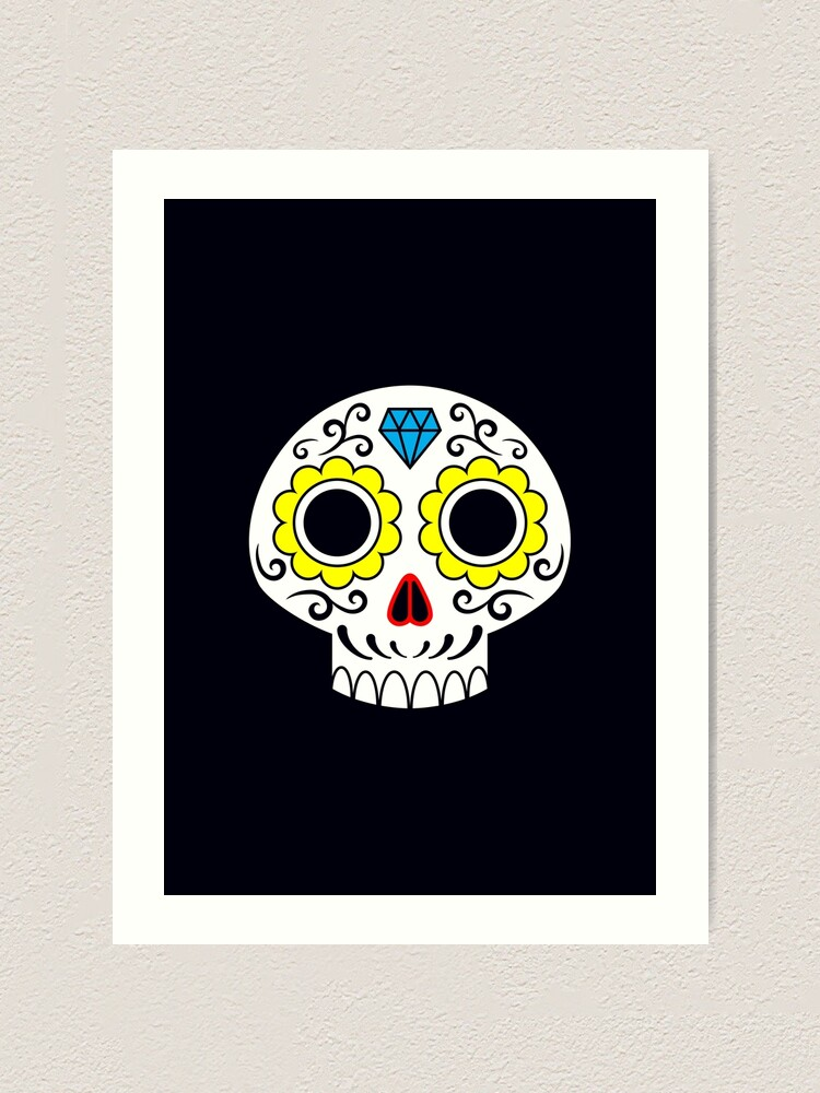 Alternate view of Sugar skull for a cake Art Print