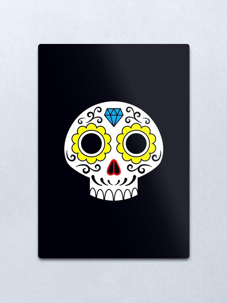 Alternate view of Sugar skull for a cake Metal Print