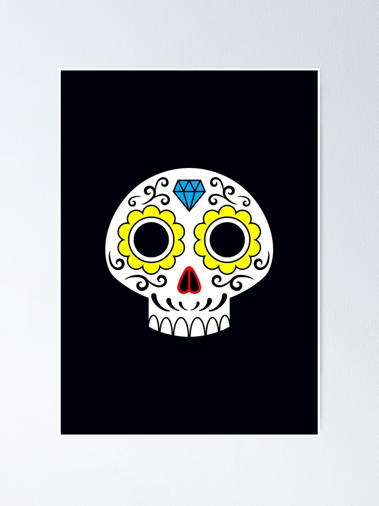 Alternate view of Sugar skull for a cake Poster