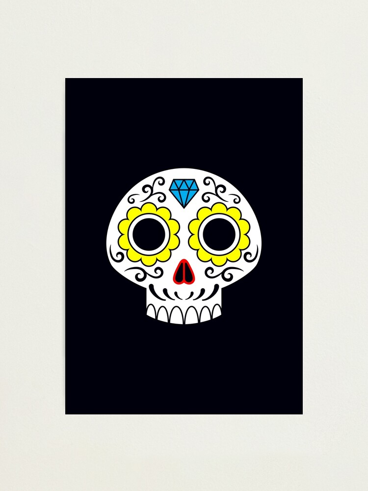 Alternate view of Sugar skull for a cake Photographic Print