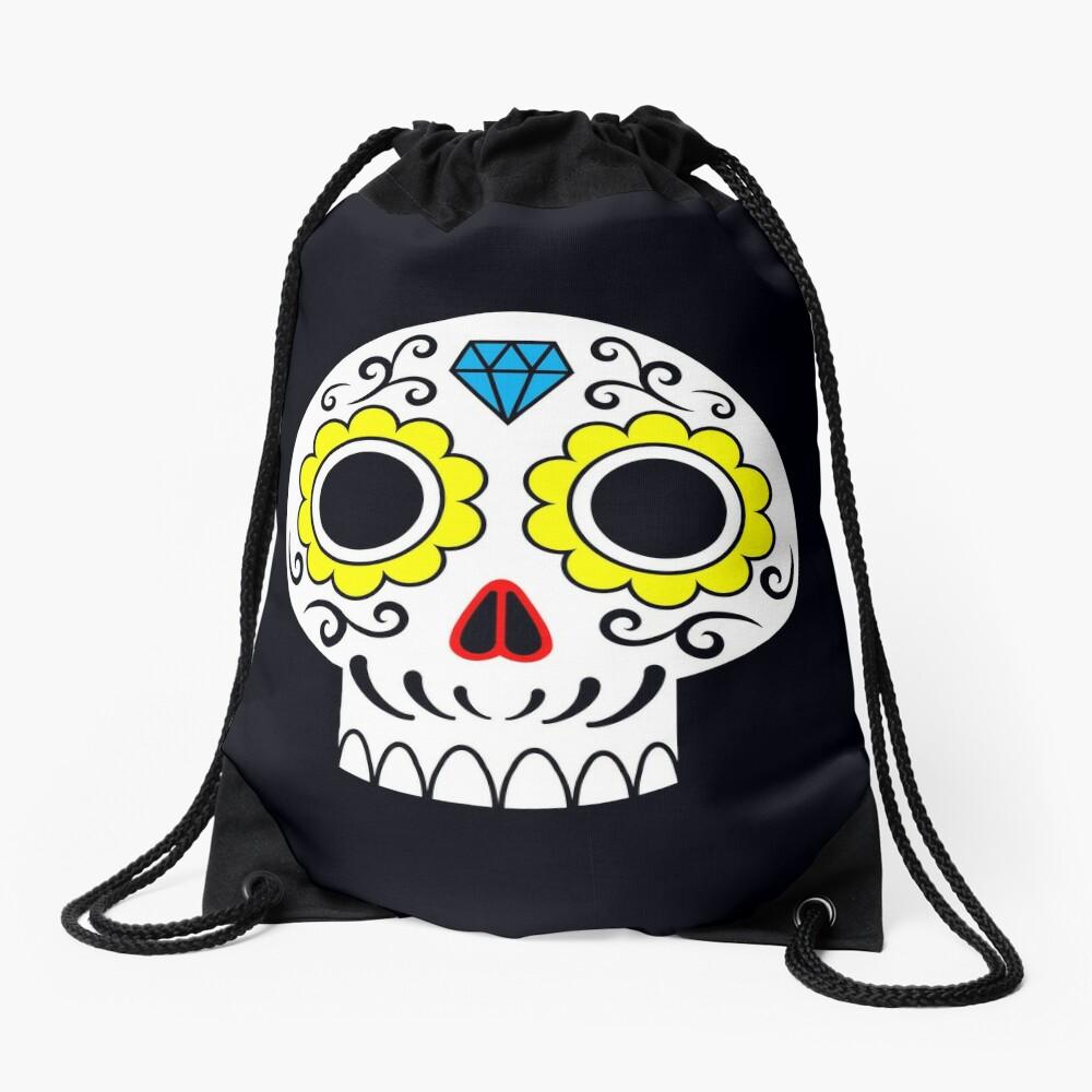 Sugar skull for a cake Drawstring Bag