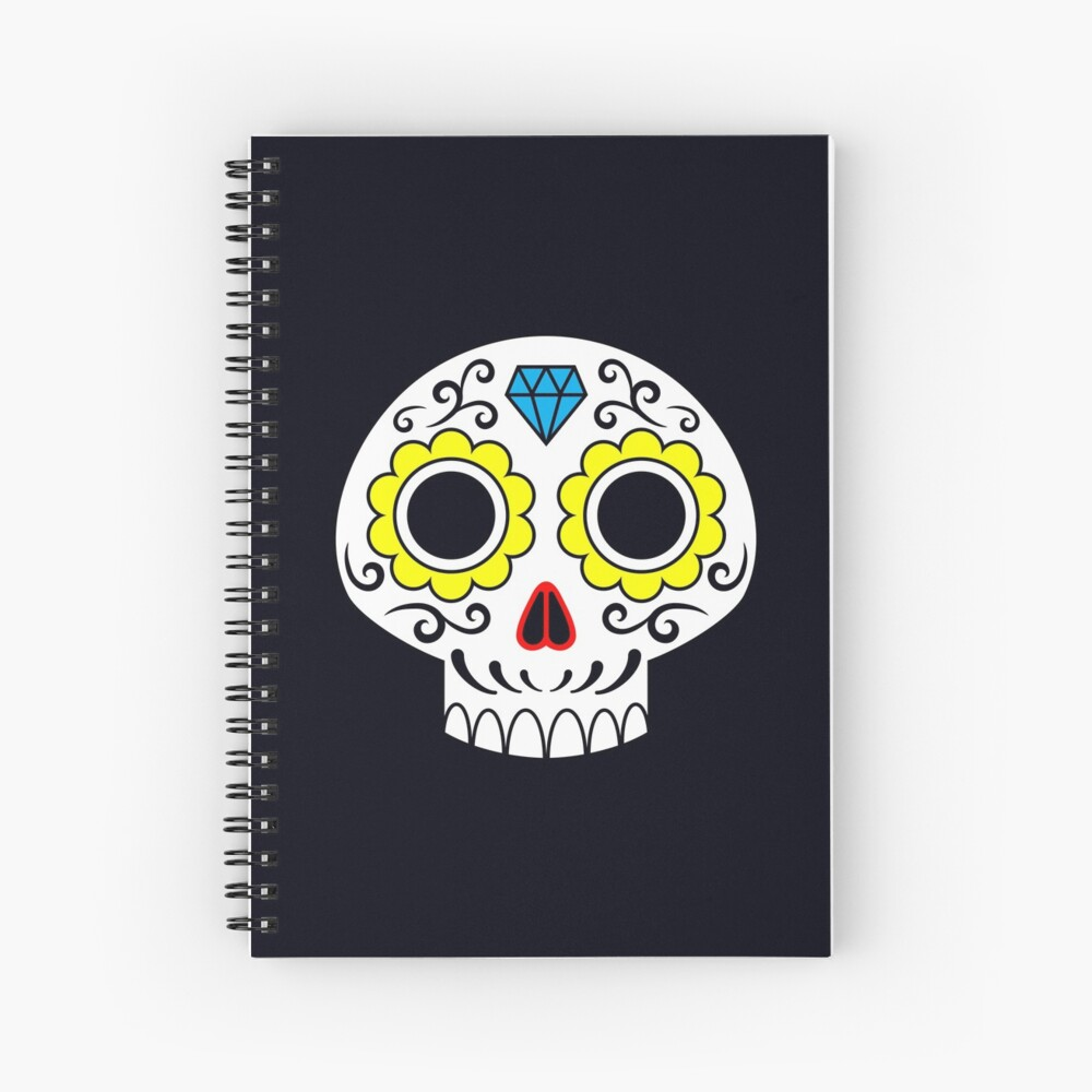 Sugar skull for a cake Spiral Notebook