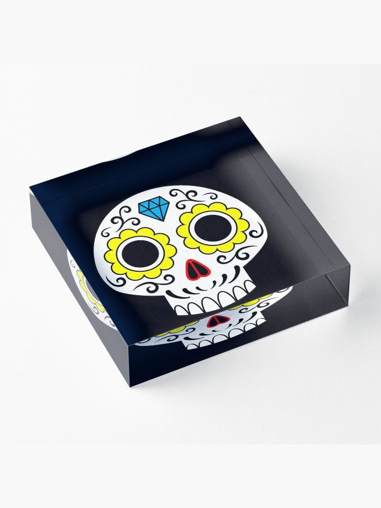 Alternate view of Sugar skull for a cake Acrylic Block