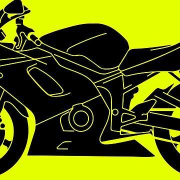 motorbike cool black detailed silhouette   by Boxzero