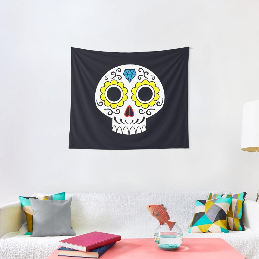 Sugar skull for a cake Tapestry