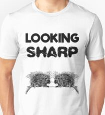 Looking Sharp Porcupine Pun Witty Quotes T-Shirt