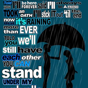 """""""You Can Stand Under My Umbrella"""" Typography Design by aliciacounter"""
