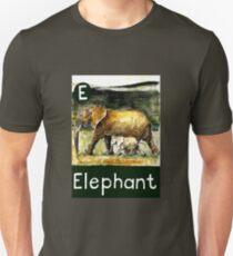 E is for Elephant Unisex T-Shirt
