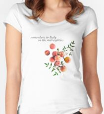 Call Me By Your Name - Inscription Women's Fitted Scoop T-Shirt