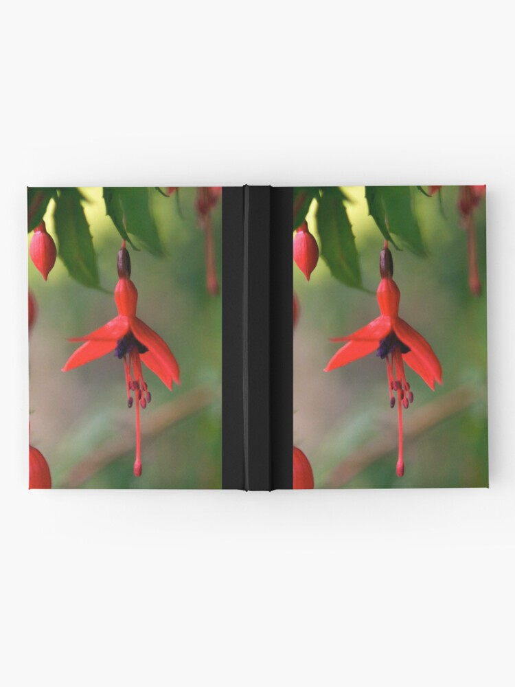 Alternate view of Single Wild Fuchsia Flower, Loch Na Fooey Hardcover Journal