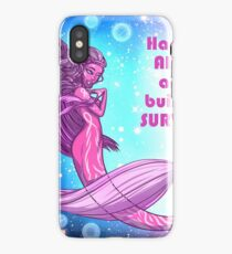 Happy, Alive, and built to survive breast cancer mermaid iPhone Case/Skin