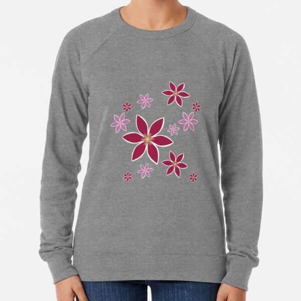 Clematis: Flowers Lightweight Sweatshirt