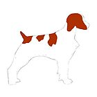 brittany spaniel color silhouette by marasdaughter