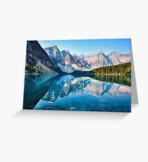 Moraine lake, Canada Postcard Greeting Card