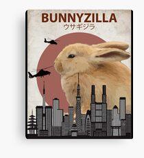 Bunnyzilla - Giant Bunny Rabbit Canvas Print