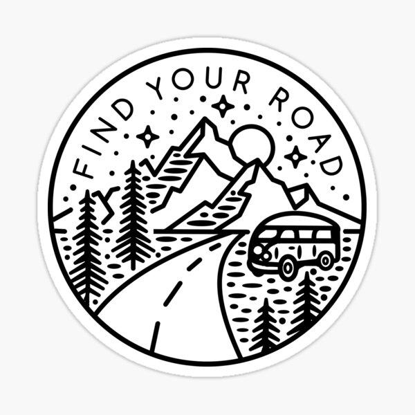Find Your Road Sticker