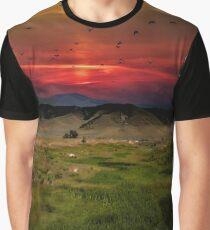 Montana Mountain Sunset  Graphic T-Shirt