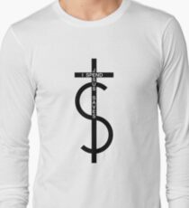 Jesus saves. I spend. (Black) Long Sleeve T-Shirt