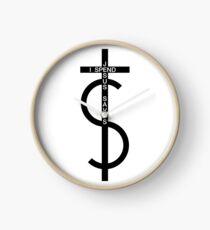 Jesus saves. I spend. (Black) Clock