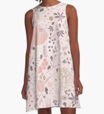 Field of Flowers in Pink and Purple A-Line Dress