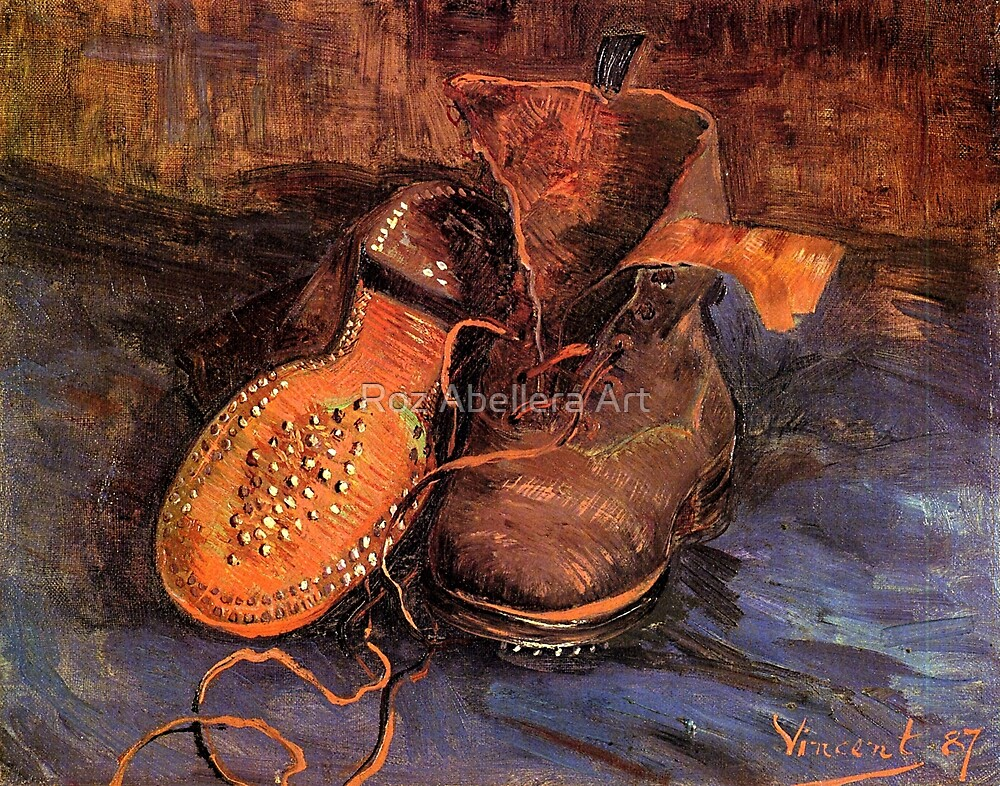 'A Pair of Shoes' by Vincent Van Gogh (Reproduction) by Roz Abellera