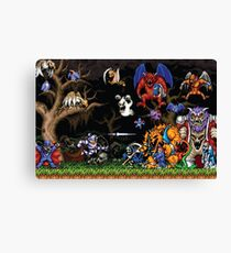 Ghouls 'n ghosts characters Canvas Print