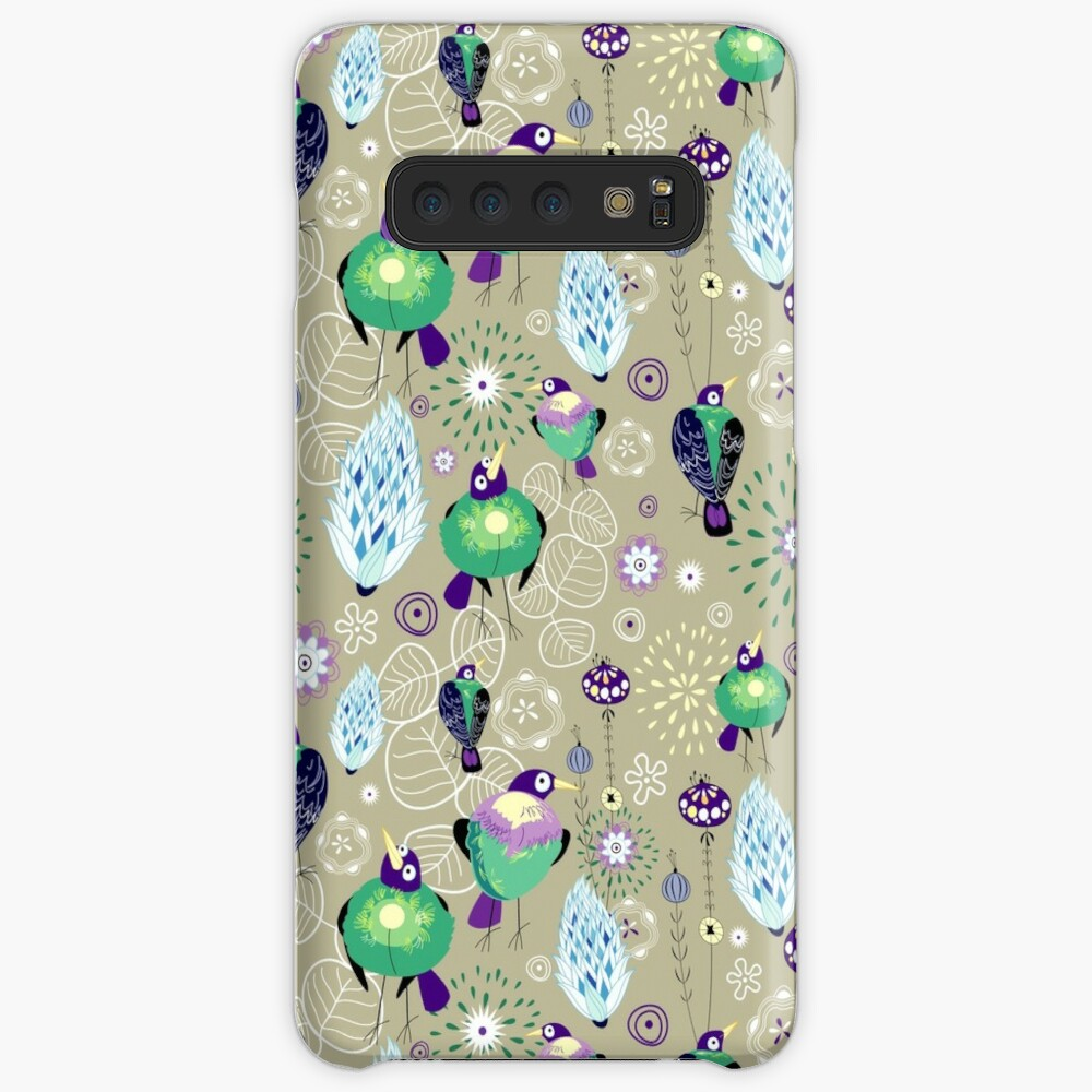 floral pattern with birds Case & Skin for Samsung Galaxy