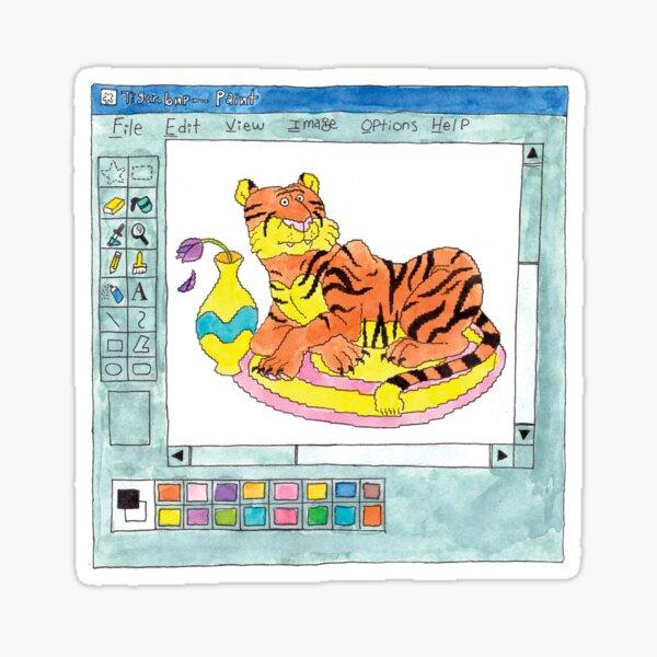 Tiger.bmp Sticker