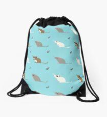 Gerbil Pattern Drawstring Bag