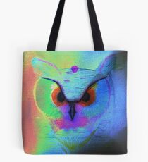 Neon Colorful Owl Tote Bag