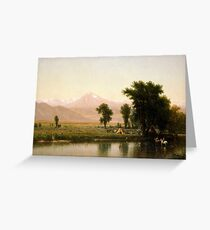 Crossing the River Platte by Worthington Whittredge Greeting Card