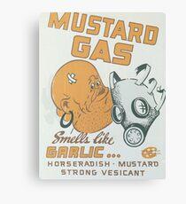 Vintage poster - Mustard Gas Canvas Print
